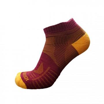 《8字繃帶》P81 短統多功8字繃帶運動襪(酒紅/黃)