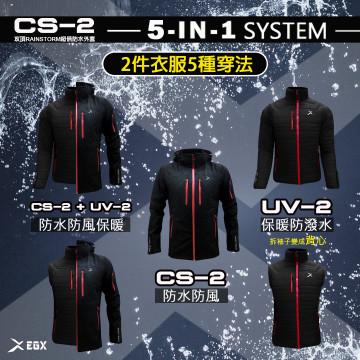 三合一外套洋蔥式穿搭,兩件式5種穿法,防風、防水、保暖全面抗寒