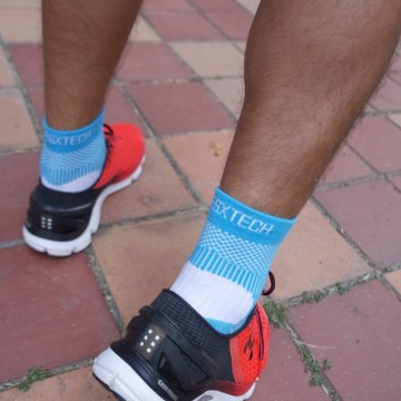 『穿』上去的貼紮-EGXtech P82 Plus 8字繃帶襪 By 運動視界 LEON