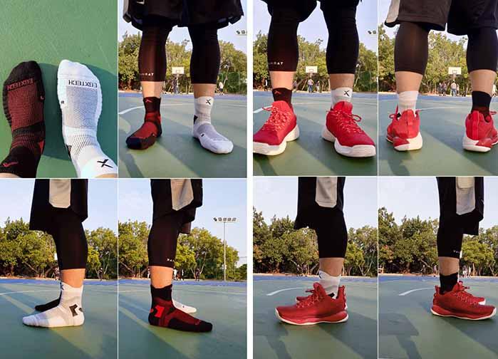 P82I籃球襪實穿照片