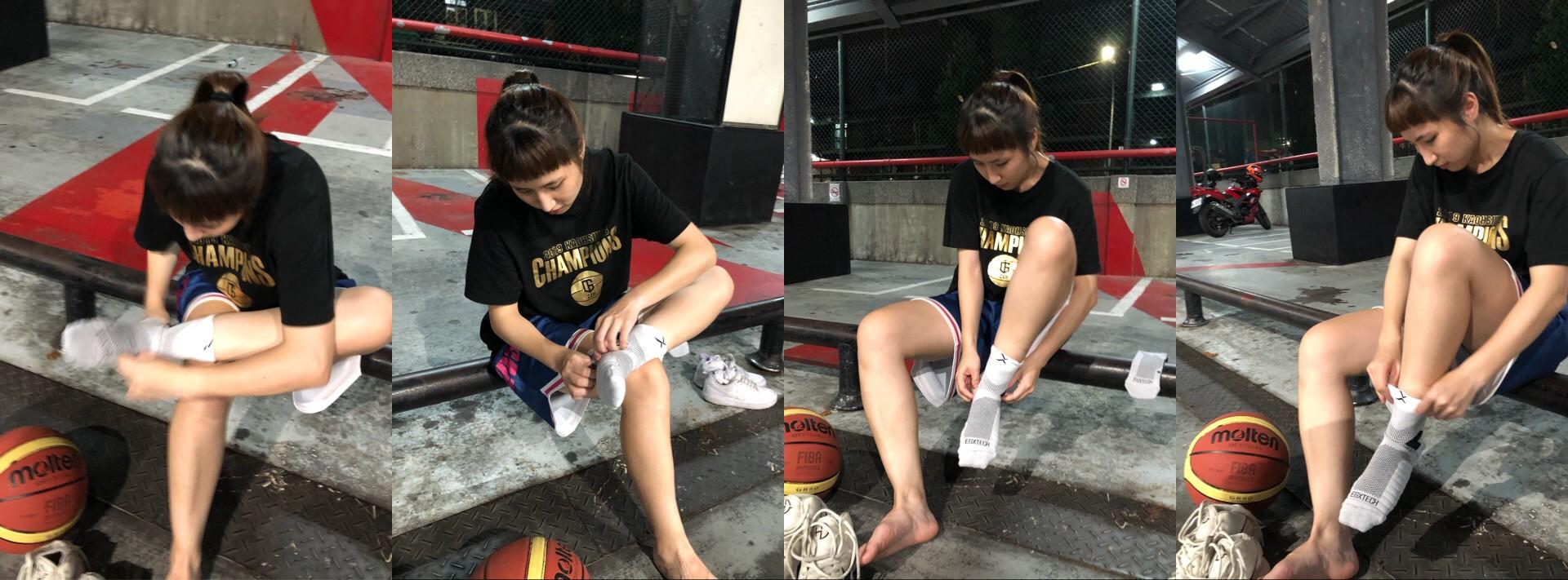 日前,在朋友輾轉的介紹下認識了EGX的這款「P82I中筒籃球繃帶襪」,也就是EGX衣格服飾很有名的「8字繃帶襪」系列產品之一,這款襪子特別的地方是它利用編織技術造成壓力差,以達到「八字纏白貼」的效果。