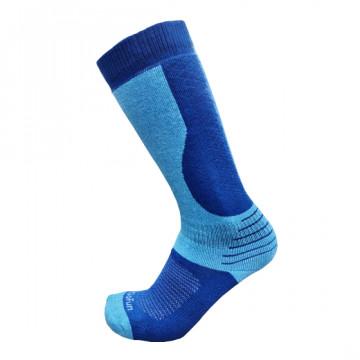 專業機能保暖滑雪襪(藍/麻藍)