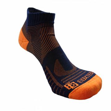 《8字繃帶》P81 短統多功8字繃帶運動襪(丈青/橘)-S號