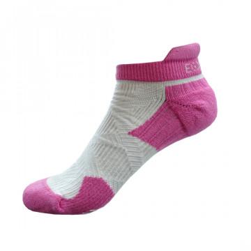 2X 強化穩定壓縮跑襪(粉紅/白)