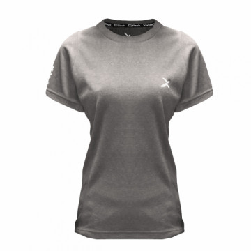 EDS-EXWT 女款涼感單導排汗短袖(麻灰)