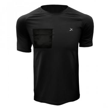 DR-1TP 極速乾健身口袋短袖(黑)