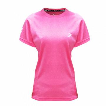 EDS-EXWT 女款涼感單導排汗短袖(桃紅)