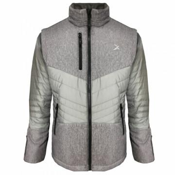 UV-2PLUS 男款變色龍2 IN 1高效保暖外套(麻灰/鐵灰)
