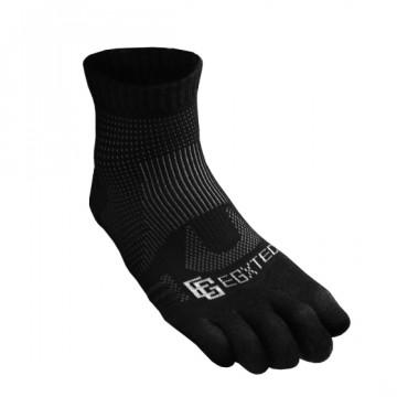 《8字繃帶》P82FT 中筒8字繃帶五趾運動襪(黑)-僅剩M號