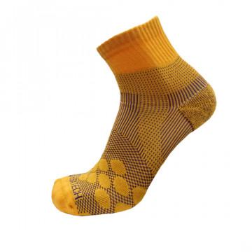 《8字繃帶》P83 中統多功8字繃帶運動襪AIR(黃/紫)