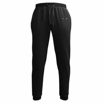 BHF-男款鬆軟刷毛長褲(黑)