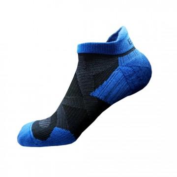 2X 強化穩定壓縮踝襪(黑/藍)