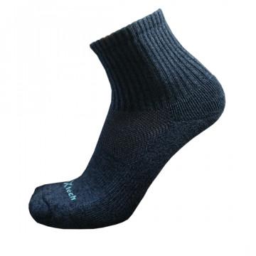 Basic機能抗菌除臭中筒襪(麻花藍)