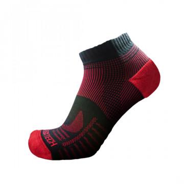 《8字繃帶》P81 短統多功8字繃帶運動襪(黑/紅)-S號