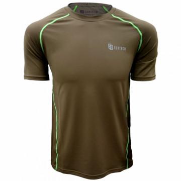 EDS-1男款隧道式排汗衣(卡其/綠)