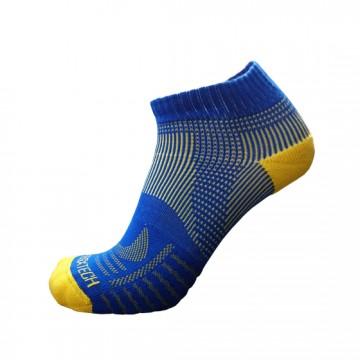 《8字繃帶》P81 短統多功8字繃帶運動襪(藍/黃)