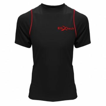 EDS-3男款隧道式單導排汗衣(黑/紅)