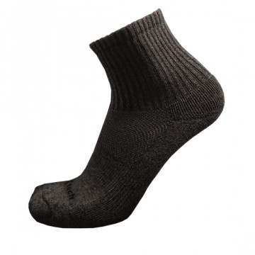 Basic機能抗菌除臭中筒襪(麻花黑)-僅剩M號