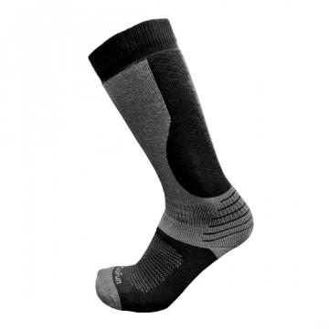 專業機能保暖滑雪襪(黑/麻灰)