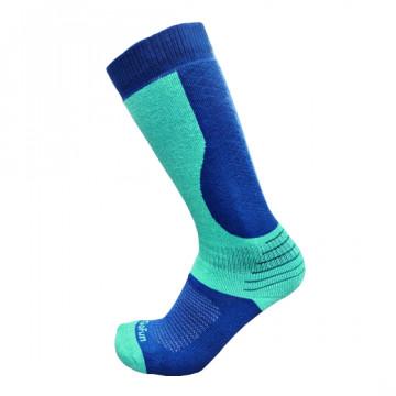 專業機能保暖滑雪襪(藍/麻綠)