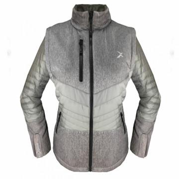 UV-2WPLUS 女款變色龍2 IN 1高效保暖外套(麻灰/鐵灰)