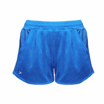 EDS-EXWS 女款涼感單導排汗短褲(藍)