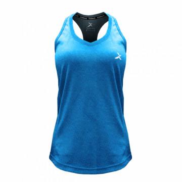 EDS-EXWV 女款涼感單導排汗背心(藍)