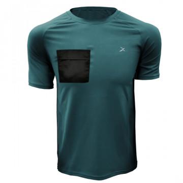 DR-1TP 極速乾健身口袋短袖(綠)