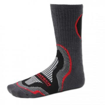 Basic 長筒運動除臭襪 (黑/紅)