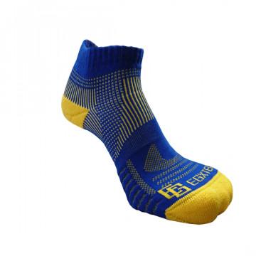 《8字繃帶》P81 短統多功8字繃帶運動襪(藍/黃)-S號