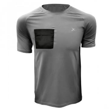 DR-1TP 極速乾健身口袋短袖(灰)