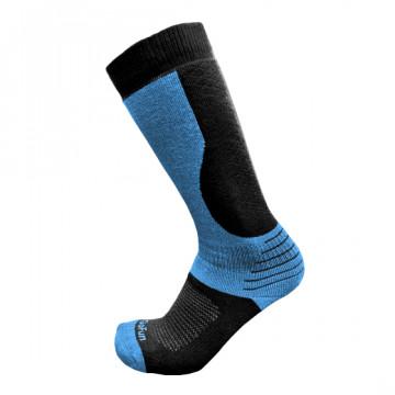 專業機能保暖滑雪襪(黑/麻藍)