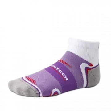 Basic 運動短筒除臭襪 (白/紫)-僅剩M號