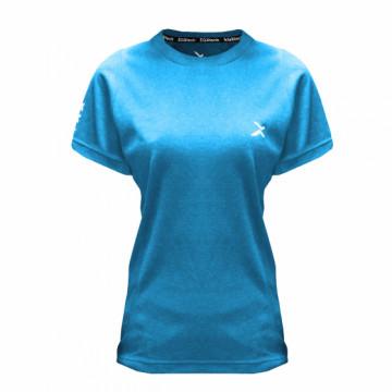 EDS-EXWT 女款涼感單導排汗短袖(藍)