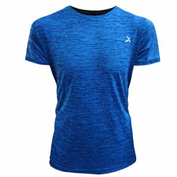 EDS-ET Classic 男款單導排汗短袖(麻藍)-經典一般袖