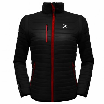 UV-2W 女款變色龍2 IN 1高效保暖外套(黑/紅)