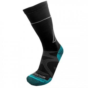 Basic 長筒機能運動襪(黑/綠)-僅剩XL號