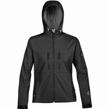 HS-1W 女款軟殼機能連帽外套(黑)