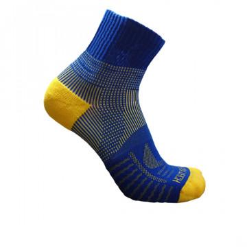 《8字繃帶》P82 中統多功8字繃帶運動襪(藍/黃)-S號