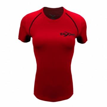 EDS-3W女款隧道式單導排汗衣(紅/黑)