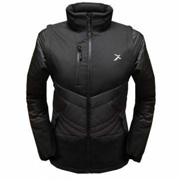 UV-2WPLUS 女款變色龍2 IN 1高效保暖外套(黑/黑)