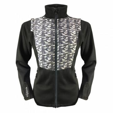 UV-2WSPORT 女款變色龍2 IN 1運動保暖外套(迷彩黑)