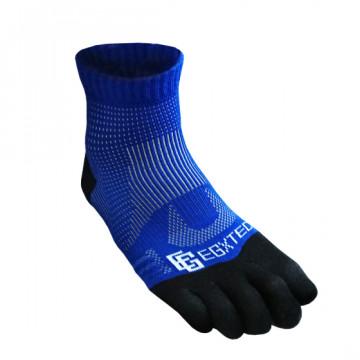 《8字繃帶》P82FT 中筒8字繃帶五趾運動襪(藍)-僅剩XL號