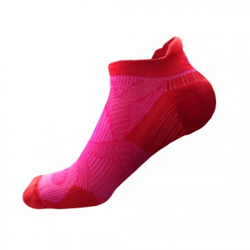 2X 強化穩定壓縮踝襪(粉紅/紅)